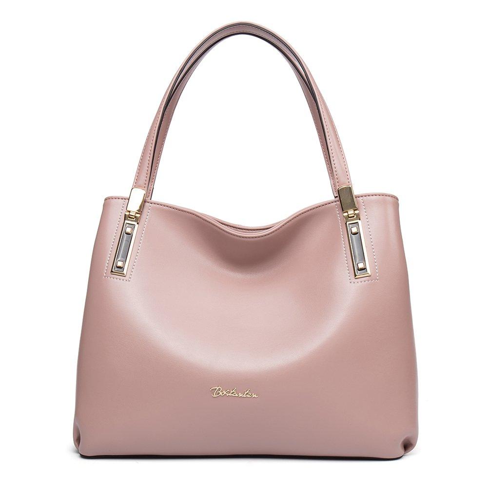 [ボスタンテン]BOSTANTEN ハンドバッグ レディース 人気 本革 バッグ 通勤 軽量 大容量 全8色 B01LZERYK3 ピンク ピンク