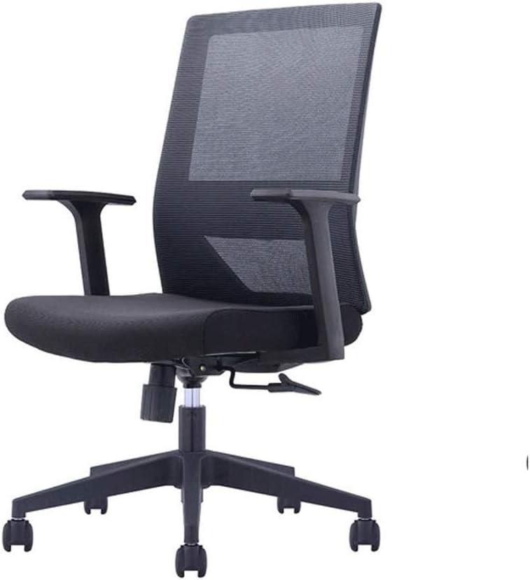Silla de oficina Silla de escritorio de la computadora del juego - ergonómico media de la espalda del amortiguador de la ayuda lumbar con las ruedas cómodo asiento de malla que compite con ajustable g