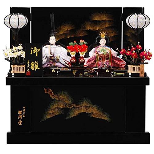 雛人形 親王収納飾り 【沈金蒔絵】セット(2人)[幅50cm] 黒塗[sb-14-197] 雛祭り   B07KVWZKDX