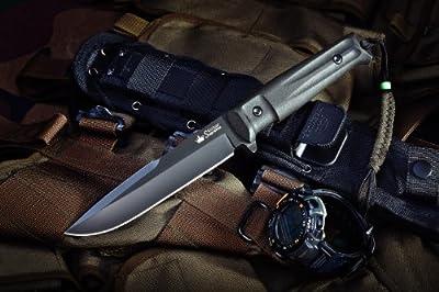 Kizlyar KK0208 Delta D2 Russian Made Titanium Tactical Knife, Black from CAS HANWEI :: Combat Knife :: Tactical Knife :: Hunting Knife :: Fixed Blade Knife :: Folding Blade Knife