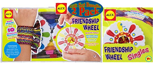 ALEX Toys Friendship Wheel & Friendship Wheel Single Bracelet Maker Deluxe Gift Set Bundle - 2 Pack]()