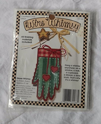 Dimensions Plastic Canvas Wire (WIRE WHIMSY Green Glove - Plastic Canvas Counted Cross Stitch Kit 72166)