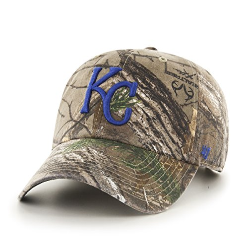 MLB Kansas City Royals '47 Big Buck Clean Up Camo Adjustable Hat, One Size Fits Most, Realtree Camouflage