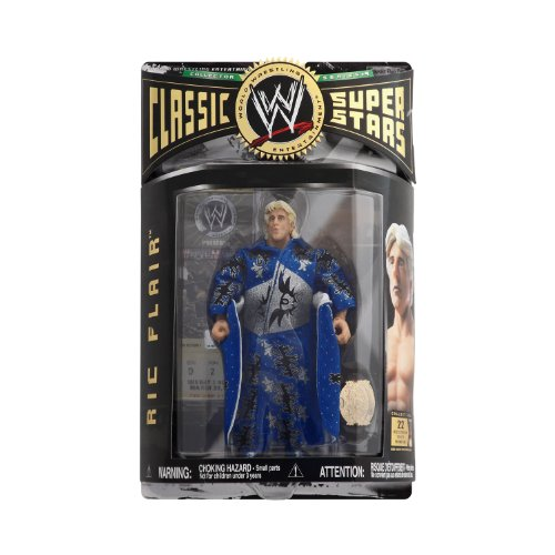WWE WWF Classic Superstars Nature Boy Ric Flair Series 9 Wrestling Action Figure with Robe and WCW Championship Belt