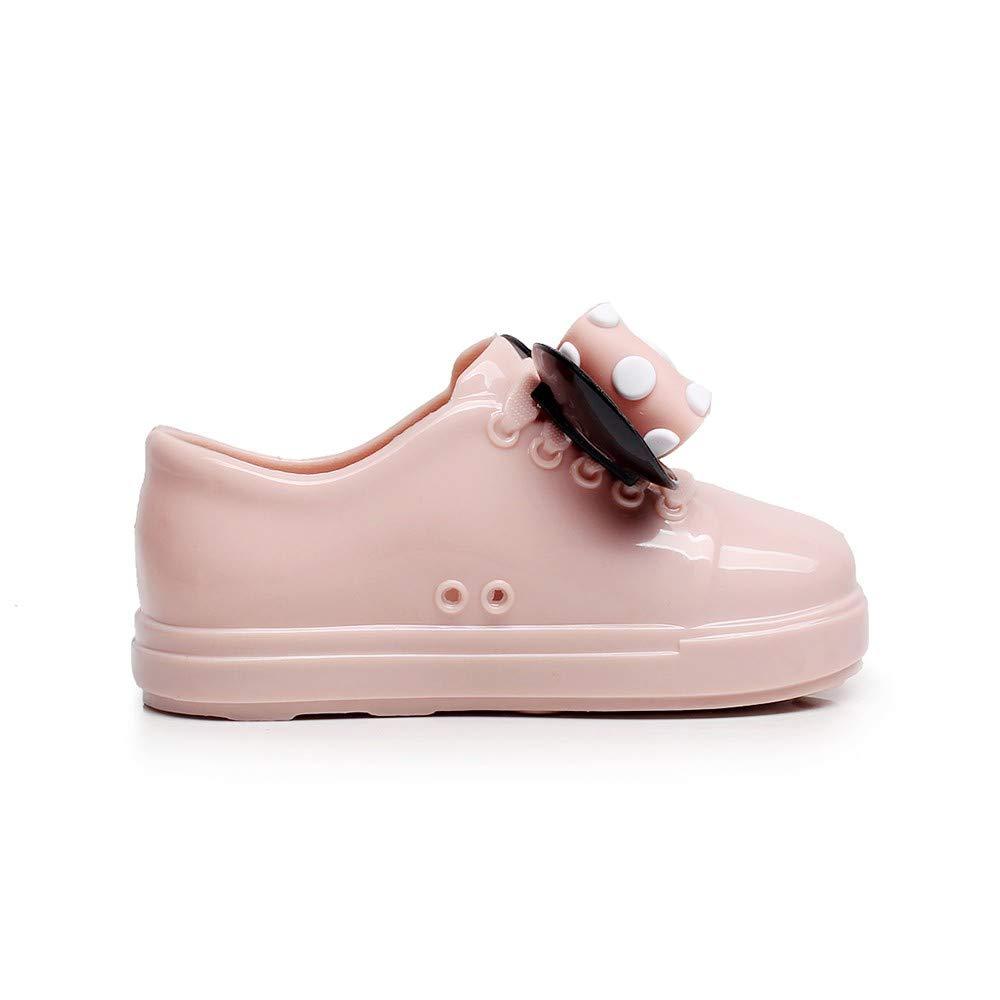 Waterproof Infant Dot Bowknot Rubber Rain Boots Kids Children Rain Shoes Pandaie Baby Boy /& Girl Shoes