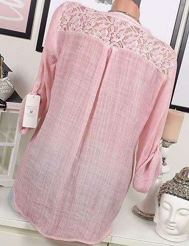 Pink Chemisier Femmes YFLTZ Blushing Unie Couleur xzaqqwS
