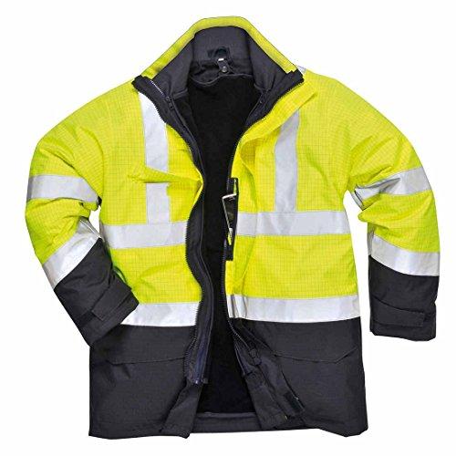 PORTWEST S779 - Bizflame Regen Warnschutz Multi-Norm Jacke, 1 Stück, L, gelb, S779YNRL