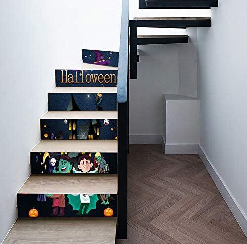 Pegatinas de escalera para niños, Pegatinas de escalera estéreo de Halloween con simulación 3D Impermeable extraíble para sala de estar Dormitorio Decoración de bricolaje: Amazon.es: Hogar