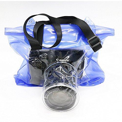 (FreSky DSLR SLR Camera Waterproof Bag Underwater Housing Case Pouch Cover for Canon Nikon etc.)