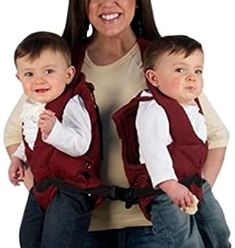 Stuff 4 Multiples Twintrexx Twin Baby Carrier Burgundy