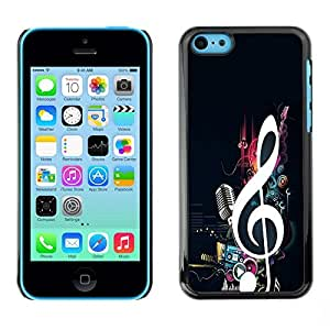 LOVE FOR iPhone 5Cs cool music note microphone beat bass love Personalized Design Custom DIY Case Cover