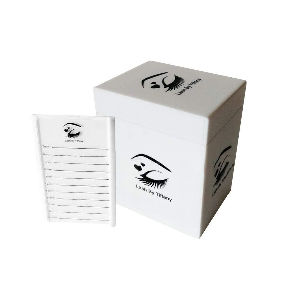 44 Rejillas Caja de almacenamiento de exhibición de uñas Blanco Acrílico Ajustable Diamante Estuche de bordado para organizar pestañas de joyería de perlas Arte de uñas Rhinestone Diamantes Pendientes Oshide