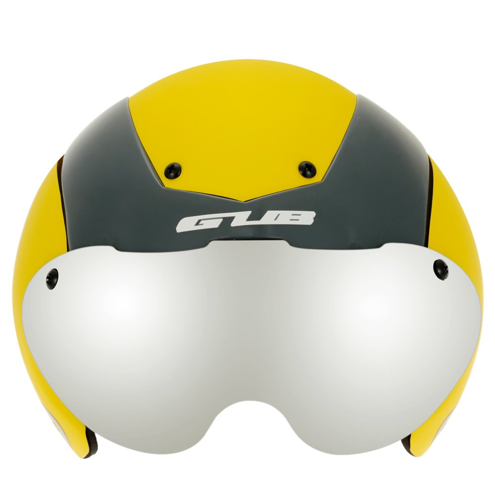 Unisex Cycling Helmet Ultralight Integrally-molded 13 Vents Bicycle Helmet Bike Skating 2 in 1 Helmet with Goggles - Yellow by New Brand (Image #1)