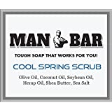 Natural Soap - Man Bar - Tough Soap That Works for You! All Natural Olive Oil Based Soap - 5 Oz Bars - Cool Springs Scrub