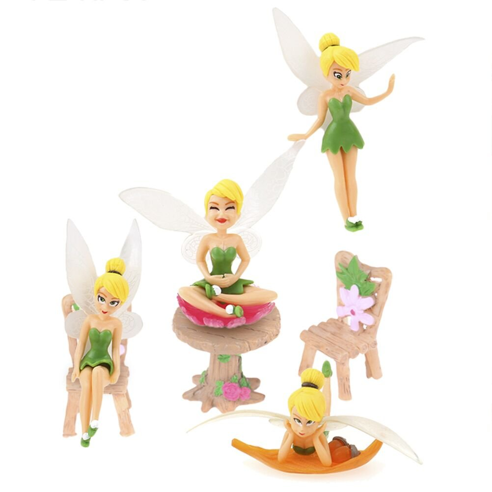 Diyiming 4Pcs Flower Pixie Fairy Ornaments Miniature Figurine Garden Plant Pot Craft Dollhouse Decor Gift DIY Ornament yunyong