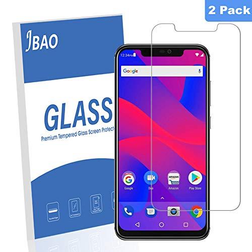 [2-Pack] Jbao Direct BLU Vivo XI+ Screen Protector, [Scratch Resistant][Anti-Fingerprint][Bubble Free][2.5D Arc Edge][Ultra Clear] 9H Hardness Tempered Glass for BLU Vivo XI+