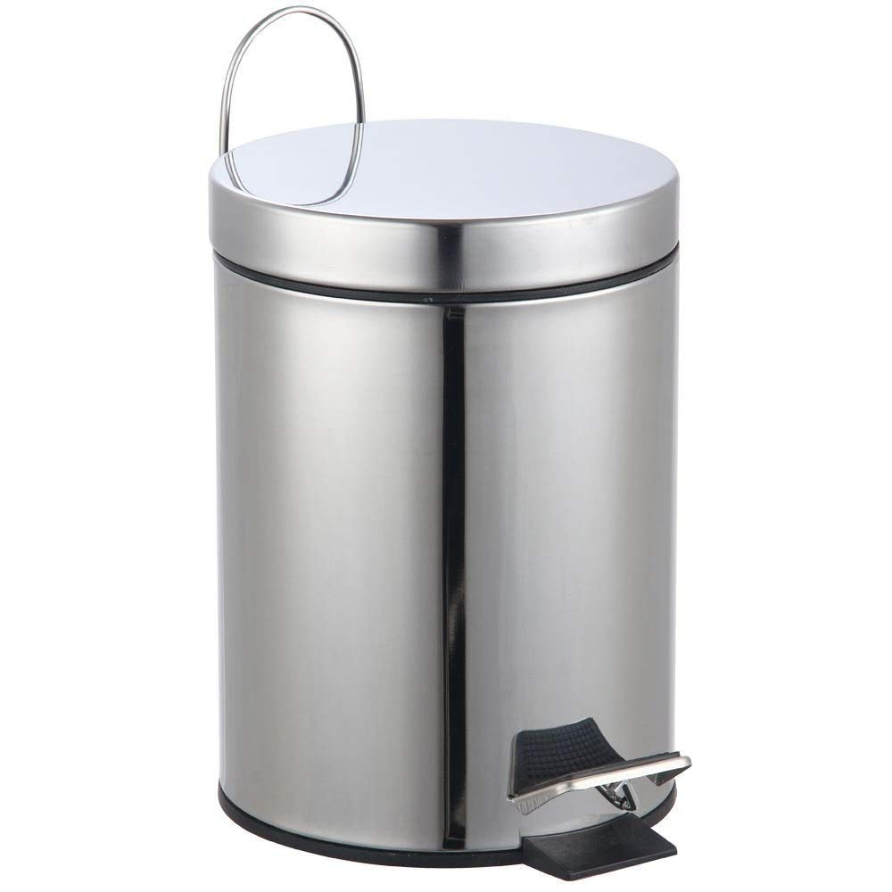 Home Discount Bathroom Kitchen Bin 3 Litre Stainless Steel Waste Rubbish Cosmetic Pedal Bin Inner Bucket In Silver