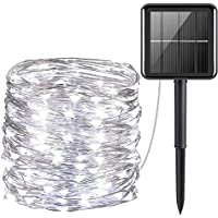 AUS Living Solar String Lights Outdoor, 21.9m 200 LED Ultra Bright Waterproof, 8 Modes for Garden Patio Tree Party…