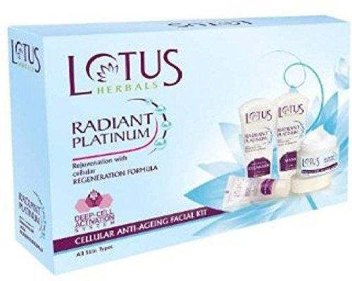 Lotus Radiant Platinum Cellular Anti-Ageing Facial Kit (Set of 4) Anti Ageing Kit