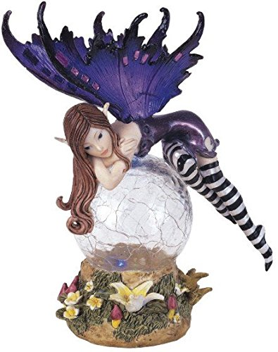 StealStreet SS-G-91268 Fairy Crystal Ball LED Light Figure Decoration Collectible