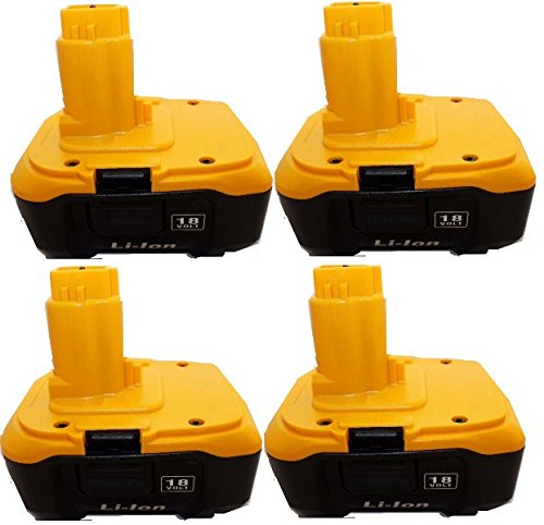 4 pcs 4A Lithium Battery DC9180 4a 4.0 a 4amp Replace for Dewalt Dc9180 18v 4a High Capacity Also Can Replace for Dc9096 Using Charger Dc9310 Cordless Tools Drills Battery Batteria Compatible