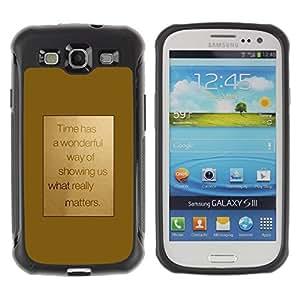 LASTONE PHONE CASE / Suave Silicona Caso Carcasa de Caucho Funda para Samsung Galaxy S3 I9300 / Motivation Motivational Gold Text