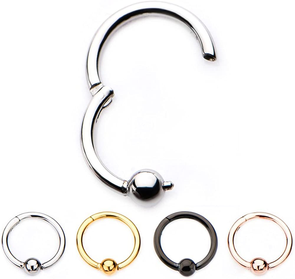 16g Stainless Steel WildKlass Hinged Segment Rings with 3mm Ball