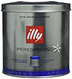 illy Coffee, iperEspresso Capsule, Lungo Medium Roast Espresso Pod, 100 percent Arabica Bean Signature Italian Long Espresso Blend, Premium Gourmet Roast, 21 Count, 2 Pack