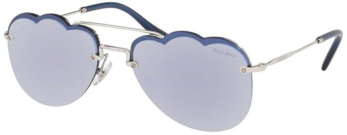 Amazon.com: Gafas de sol Miu MU 56 US 1BC178 plateadas: Clothing