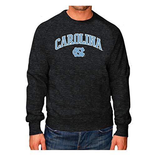 Elite Fan Shop North Carolina Tar Heels Crewneck Sweatshirt Heather Arch Gray - XXL - Charcoal ()
