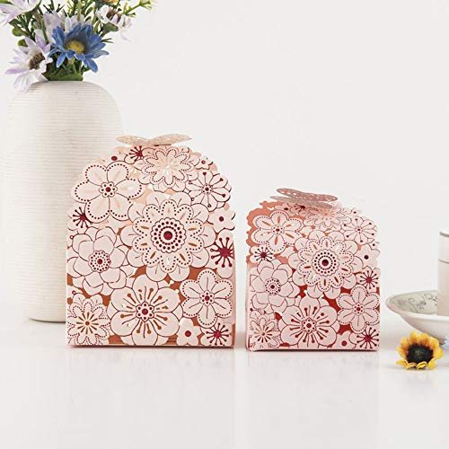 Eyxia Wedding Favor Boxes Flower Laser Cut Party Favors Bags Baby Shower Candy Gift Box Set Butterfly Event Decoration Wholesale 20pcs Blue (S, 2 Pink -