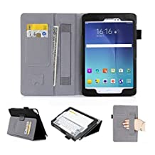 [Corner Protection] Galaxy Tab A 8.0 Case, FYY® Ultra Slim Magnetic Smart Cover Case for Samsung Galaxy Tab A 8.0 (P350/T350) Black
