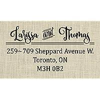 Wedding return address stamp, Custom Address Stamp for couples - 1A