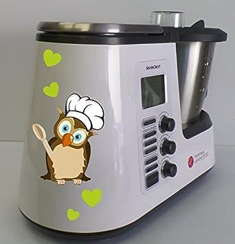 Pegatina para Monsieur Cuisine Plus.Motivo: búho Koch de color verde.: Amazon.es