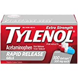 Tylenol Rapid Release Gels, Fever Reducer and Pain Reliever, 500 mg, 100 ct.