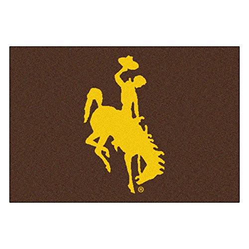 University of Wyoming Cowboys Logo Area Rug ()
