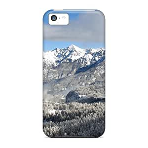 Protective Tpu Case With Fashion Design For Iphone 5c (snowy Mountains)