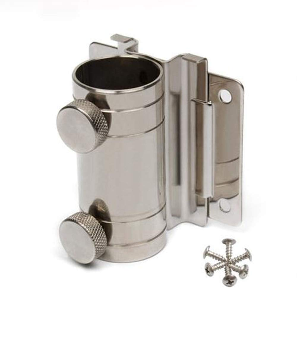 KathShop Stainless Steel Umbrella Stand Base for Fishing Box Refrigerator Fixed Screws Adjustable 16MM-30MM Tubes
