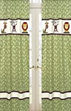 Cheap Jungle Time Green Leaf Print Window Treatment Panels by Sweet Jojo Designs – Set of 2