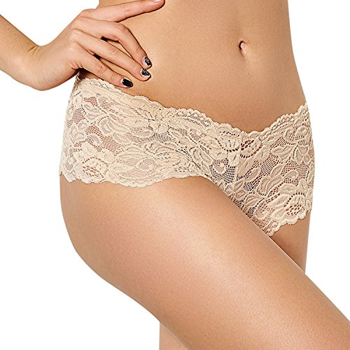 MSJESSIE Women s Lace Underwear Sexy Cheeky Hispeter Lingerie Panties Thong  Low Waist Plus Size Pack of 9df5a1f41