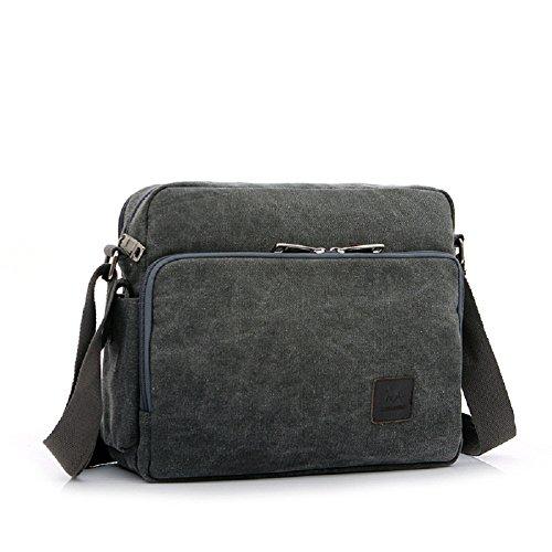 Shoulder Purses for Men, Multifunction Versatile Canvas Mens Crossbody Messenger Bag Handbag Crossbody Shoulder Bag Travel Purse Change Packet Grey by MiCoolker