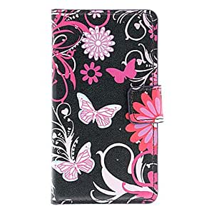 Beautiful Butterflies Pattern Full Body Firm Case with Card Slot for HuaWei Y300 (Black)