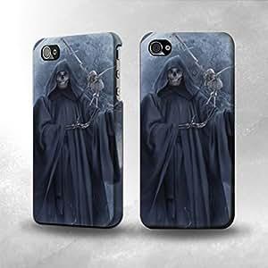 Apple iPhone 4 / 4S Case - The Best 3D Full Wrap iPhone Case - Grim Reaper Skeleton Crow