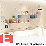 HOMEE Wall Shelves Lying Room Living Room Wall Hanging Modern Minimalist Wall Shelf Wall Decoration (Multiple Styles Available),E