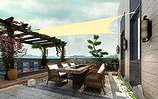 Laxllent Toldo Vela de Sombra, Protección Rayos UV, Impermeable y ...
