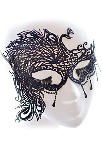 Dokotoo Womens Peacock Lace Eyes Halloween Dance Lady Masquerade Party Mask (Peacock Eye Mask)