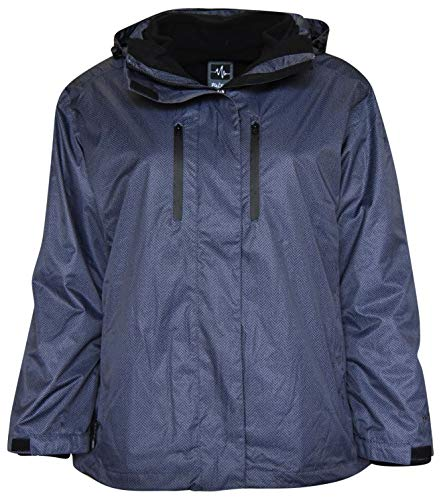 Pulse Women's Plus Extended Size 3in1 Boundary Snow Ski Jacket Coat (2X (20/22), Blk/Gry ()