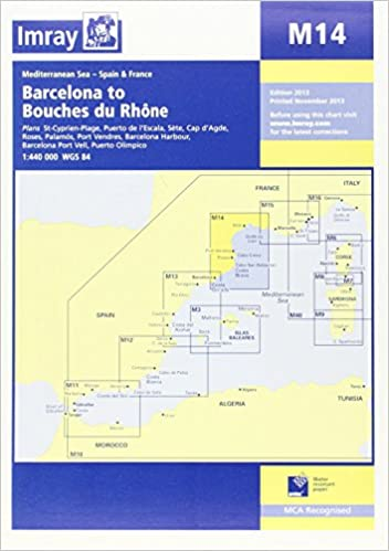 Imray Chart M14: Barcelona to Bouches Du Rhone Map – Folded Map, December 1, 2013
