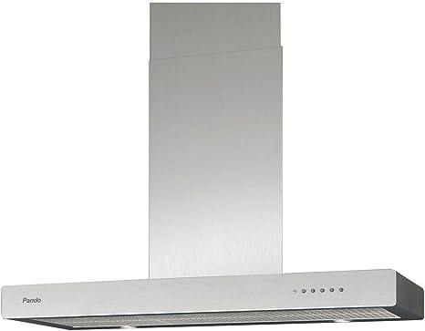 Pando P-830 634 m³/h De pared Acero inoxidable - Campana (634 m³/h, Canalizado, 43 dB, 65 dB, De pared, Acero inoxidable): Amazon.es: Hogar