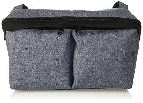 (Bugaboo Stroller Organizer, Blue Mélange - Compatible with Any Stroller - Attaches to The Handlebar or Behind The Seat, Converts into a Diaper Bag Tote)